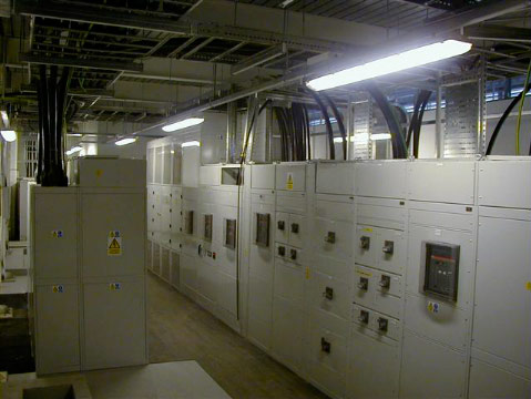A view of the power room